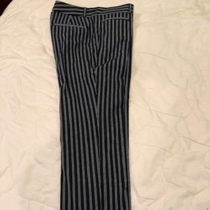BANANA REPUBLIC PANTS blue and white stripes